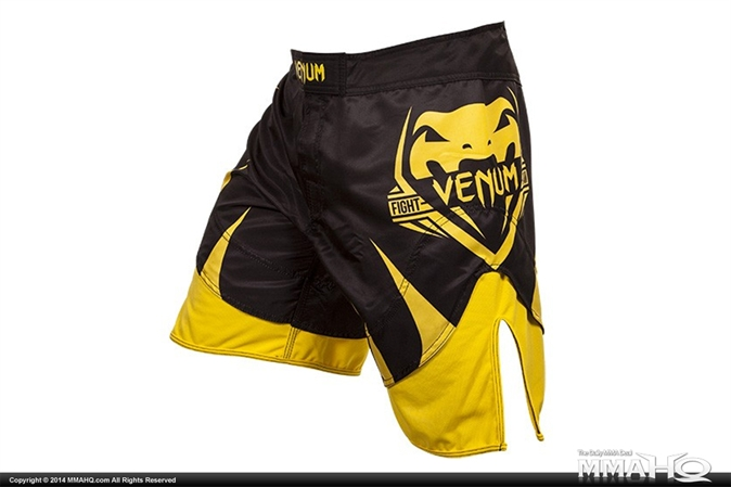 Venum Shogun Black and Yellow Fight Shorts